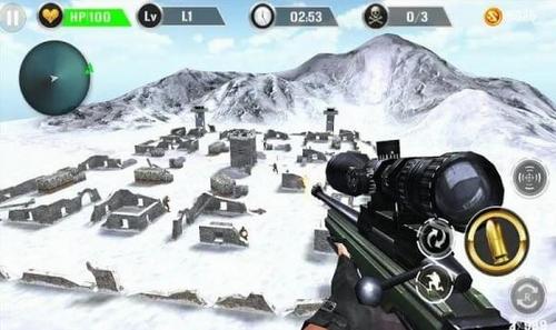 山地狙击手射击