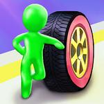 滚动的轮胎